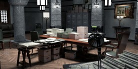 Int. Huth's Office - Early concept artwork