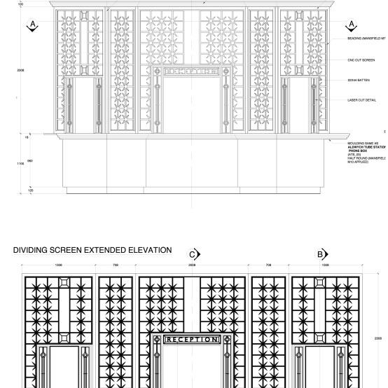 Scotland Yard Reception Desk Design